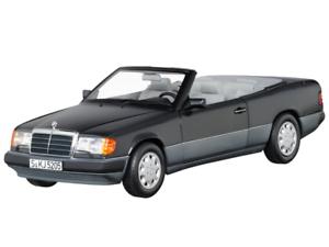 Mercedes Benz 300 ce-24 cabriolet, a124, (1992-1993), blu, nero, norev, 1 18