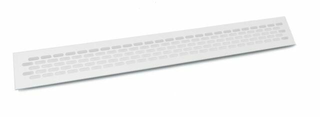 Plinth Heat Vent Grill Aluminium 16x3 inch 400x80mm White Kitchen Worktop