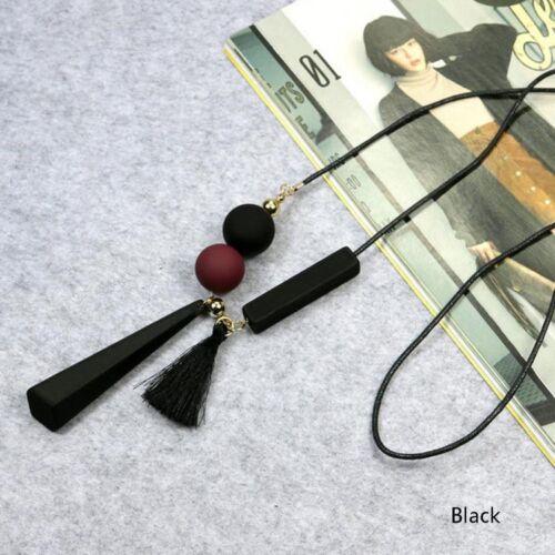 Geometrische Quasten Anhänger lange Pullover Halskette Schmuck Geschenk