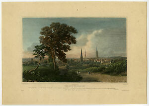 Antique-Print-COVENTRY-ENGLAND-VIEW-Jeavons-Robson-1840