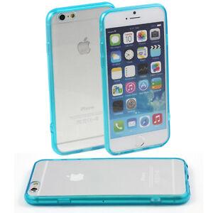5-x-BLUE-HARD-BACK-CASE-FITS-APPLE-iPHONE-6-4-7-CLEAR-TPU-SILICONE-BUMPER-M47