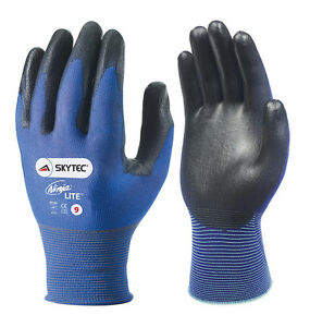5-x-Pair-Of-Skytec-NINJA-LITE-Work-Gloves-Ultra-Light-Thin-Safety-Wear-PU-Coated