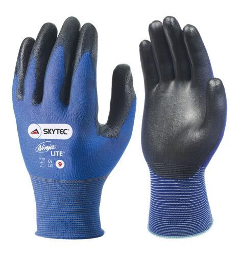 5 x paire de skytec Ninja Lite Gants de Travail Sécurité Ultra Léger Mince porter pu enduit