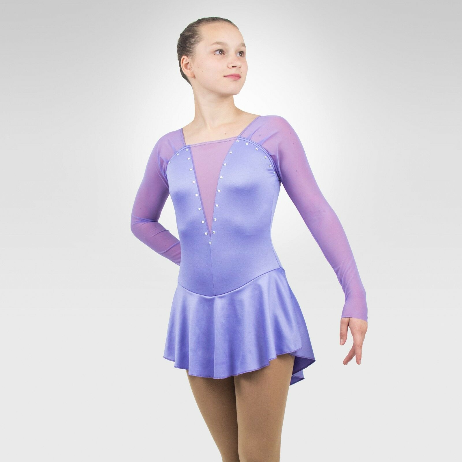 Ice Skating Figure Skating  Dress Größe XSMALL adult lavender Farbe