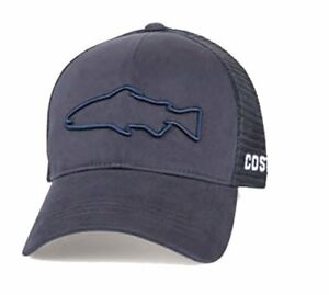 Image is loading Costa-Del-Mar-Stealth-Trout-Trucker-Hat-Navy 68236759e672