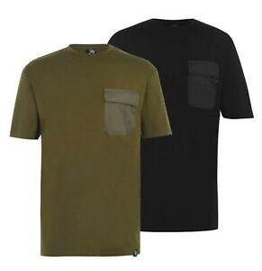 Mens-Fabric-Short-Sleeves-Crew-Neck-Stylish-Pocket-T-Shirt-Sizes-from-S-to-XXL