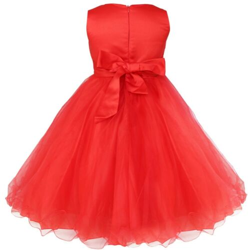 Girl Flower Formal Pageant Princess Party Prom Bridesmaid Wedding Dressess Gown