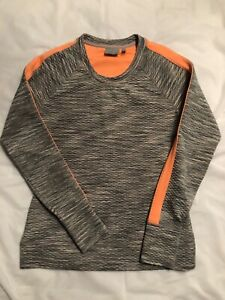Athleta Womens Sweatshirt Snowscape Crew Pullover Quilted