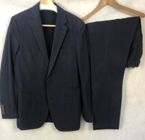 $500 Suit Supply Porto Men's Navy Blue Two Piece S