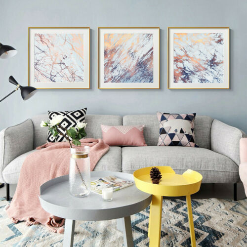 Light Blue Marbling Texture Canvas Poster Unframed Picture Wall Home Art Decor