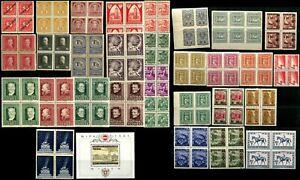 AUSTRIA-Stamps-Postage-Collection-Semi-Postal-Blocks-MINT-NH-LH