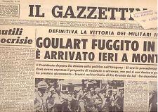 Y5  IL GAZZETTINO N. 80 ANNO 78 DEL 3/4/1964 GOULART FUGGITO IN AEREO