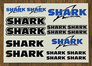 SHARK-HELMET-STICKER-SETS-SHEET-OF-16-STICKERS-DECALS-Printed-amp-Laminated