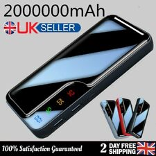 NEW 2000000mAh Power Bank 2USB LCD Backup Battery Pack Charger for Mobile Phone