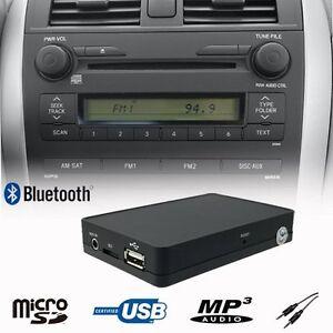 Bluetooth USB SD Toyota AUX Adapter MP3  passend für Toyota Corolla Verso 2005
