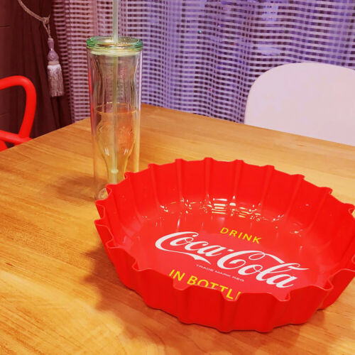 Official Coca Cola BPA Free Bottle Cap Serving Tray Candy Dish Bowl Snack Plate