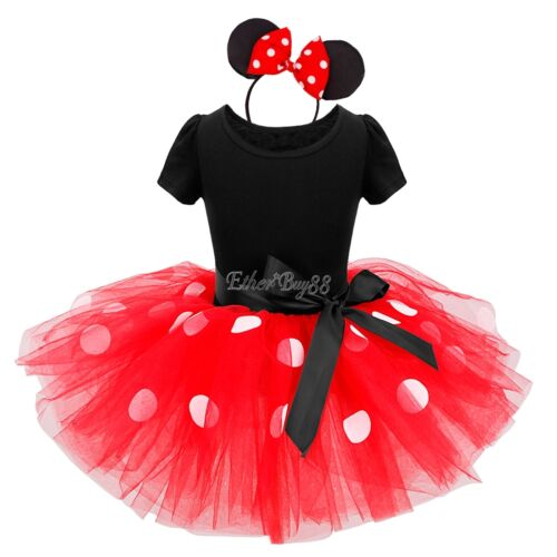 Toddler Kids Girls Minnie Mouse Princess Party Skirt Tutu Dress Outfit Costume