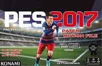 AGGIORNAMENTO PATCH Pro Evolution Soccer PES 2017 PS3 Option File