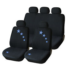Universal Blue&Flower Stitchi Front Car Seat Cover for Car Truck, Minivan & SUV