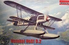 1/48 Heinkel He51 B.2 Model Kit by Roden