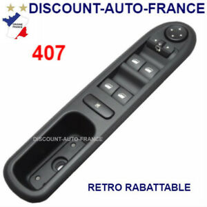 Peugeot-407-commande-bouton-interrupteur-leve-vitre-96468704XT-6554ER