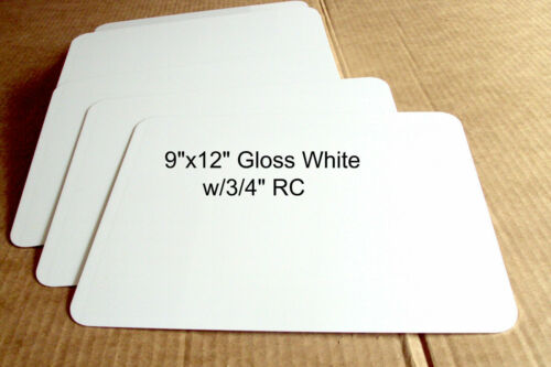 "9/"" x 12/"" .040 Gloss White ALUMINUM SIGN BLANKS w//1//2/"" RC- . Utility Use 5 pics"