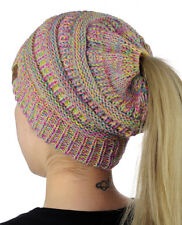 544835a75d8f47 CC BeanieTail MULTI COLOR Stretch Knit Messy High Bun Ponytail Beanie -NEW! CC  BeanieTail MULTI COLOR Stretch Knit Messy High Bun Ponytail Beanie