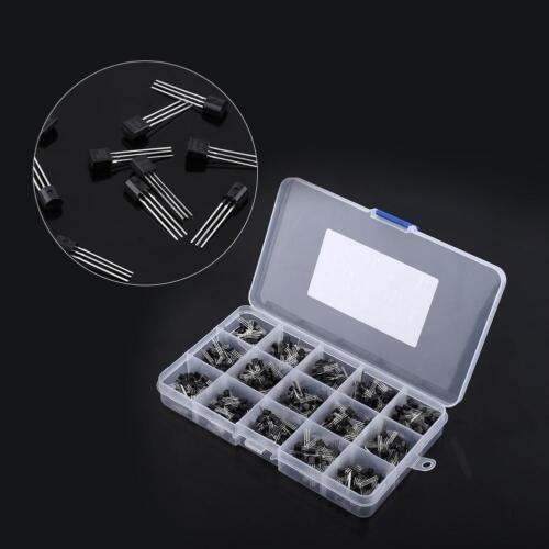 600tlg Transistor TO-92 Transistoren Sortiment Kit 15Werte mit Box Case