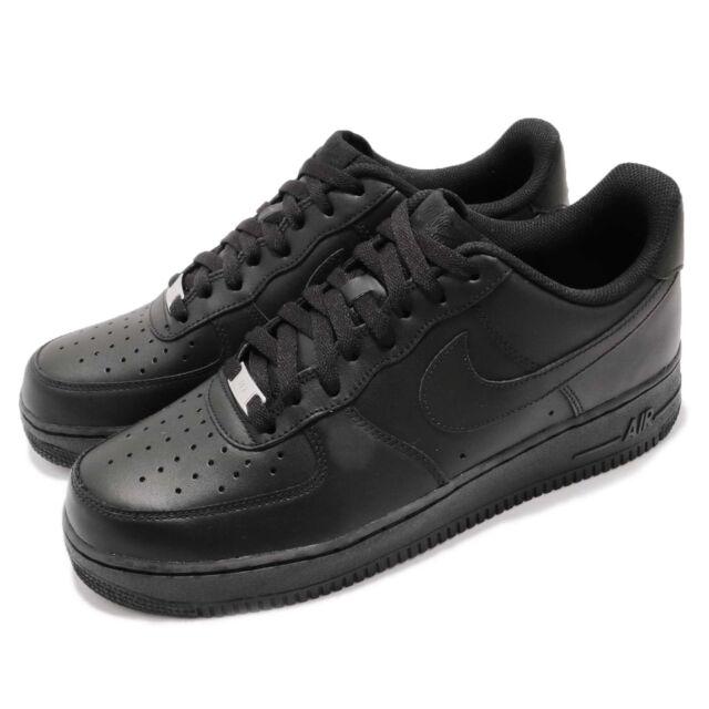 big sale 5338e 3440b Nike Air Force 1 07 AF1 Triple Black Men Classic Shoes Sneakers 315122-001