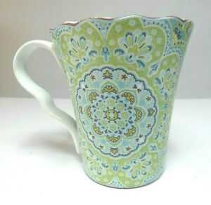 222-Fifth-Mug-Coffee-Tea-Cup-Lyria-Teal-Mandala-Porcelain-Fine-China