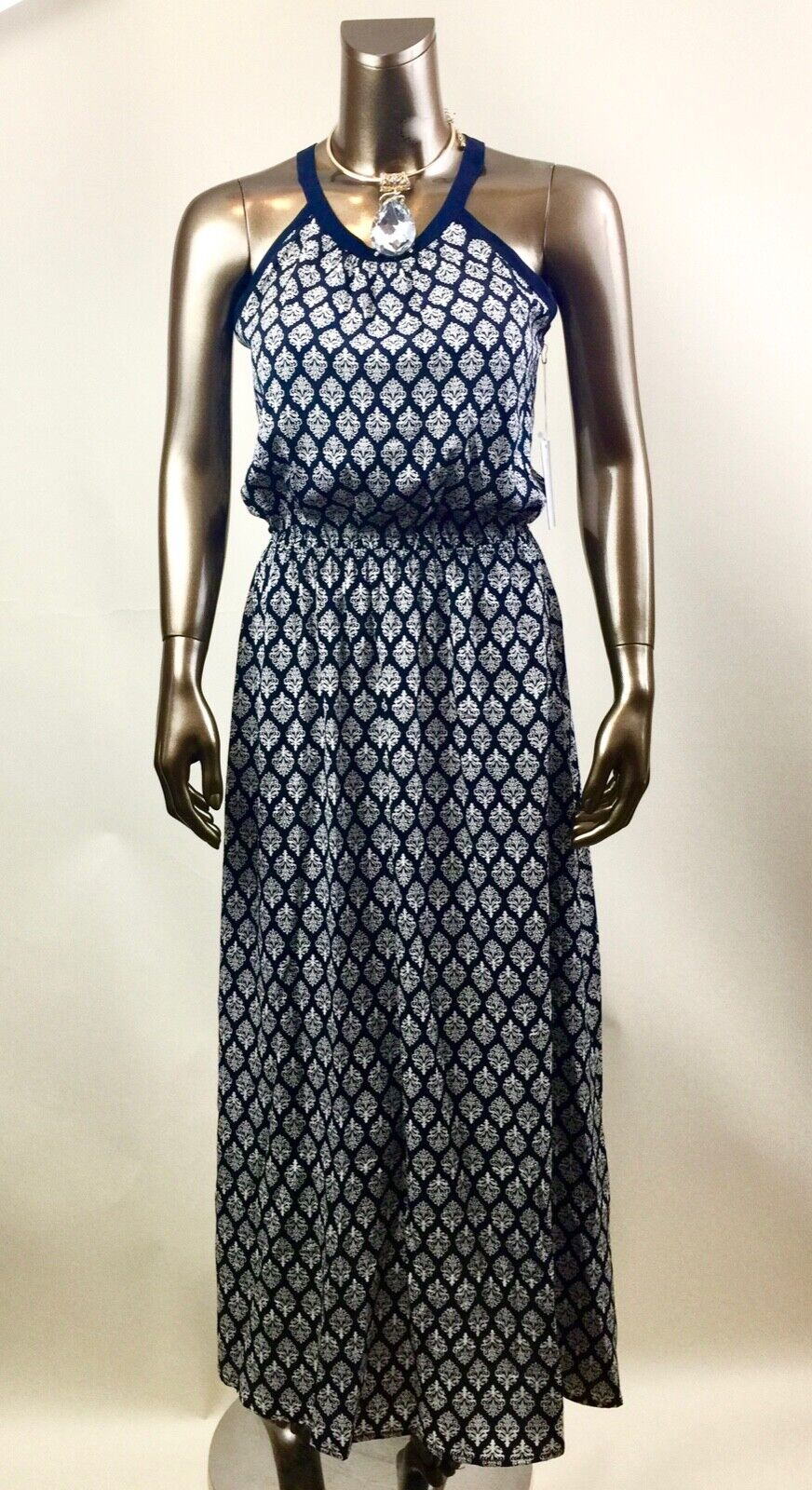 4cd96748a1ef3 ... ACHRO NWT SIZE-S M blueE-BEIGE FLORAL FLORAL FLORAL CONTRAST OUT LINE  MAXI