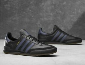 adidas originals jeans leather nero