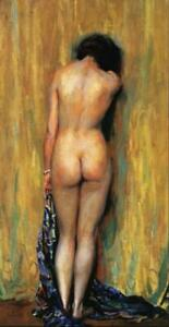 """high quality 24x48  oil painting handpainted on canvas """"standing nude """""""