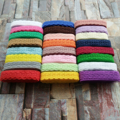 Wholesale 10 Yards Embroidery Lace Ribbon 22MM Width DIY Clothing Accessories