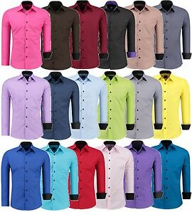 Jeel Herren Hemd Hemden Business Hochzeit Freizeit Slim Fit Bügelleicht J-12105