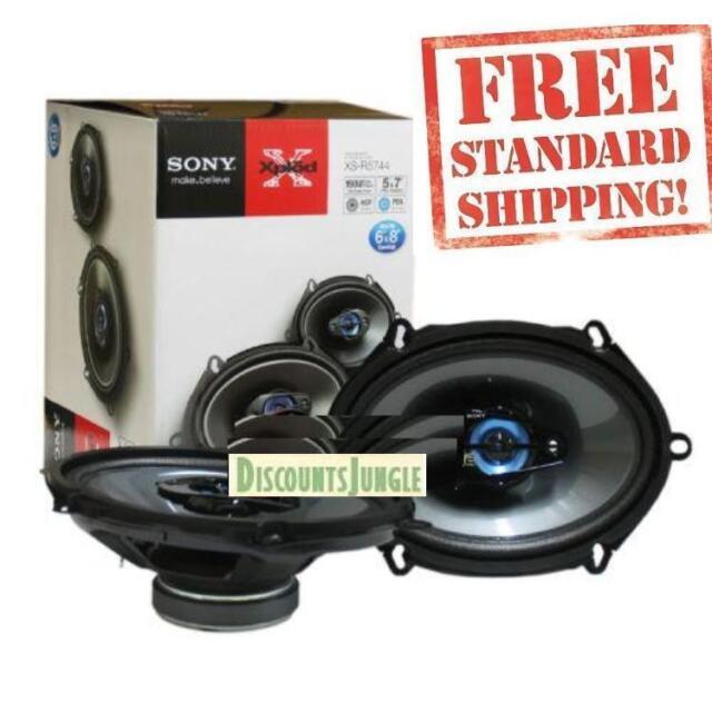 Sony Xs R5744 Xplod 190 Watt 4 Way Car Speakers Ebay
