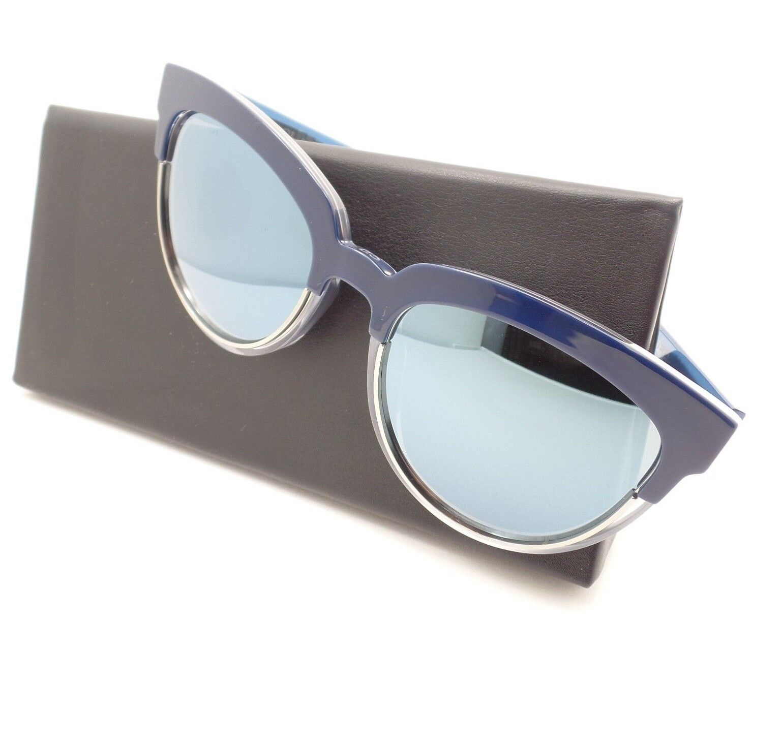 d6ec9bac11580 Christian Dior Sight 1 Rent7 Blue Crystal Blue Mirror Sunglasses ...