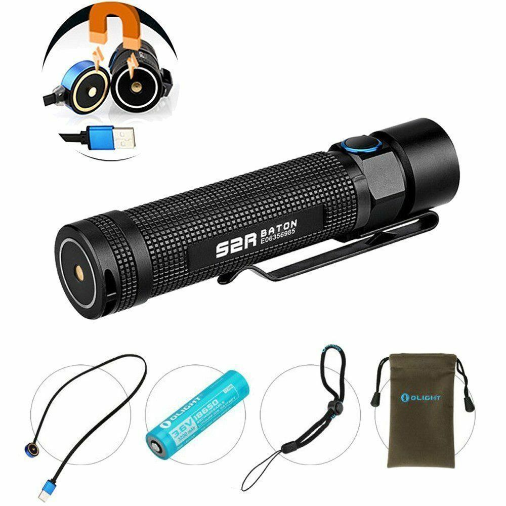 Olight S2R Baton 1020lm Magnetic Rechargeable Cree LED EDC Flashlight w  Battery