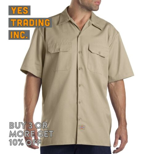DICKIES 1574 MENS CASUAL WORK SHIRT SHORT SLEEVE UNIFORM DRESS SHIRTS BUTTON UP