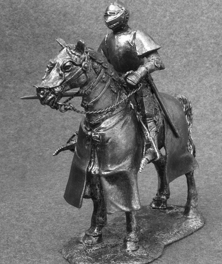 Medieval Knight Army Hospitaller 1 32 Mounted Horseman Figure Toy Soldiers 54mm