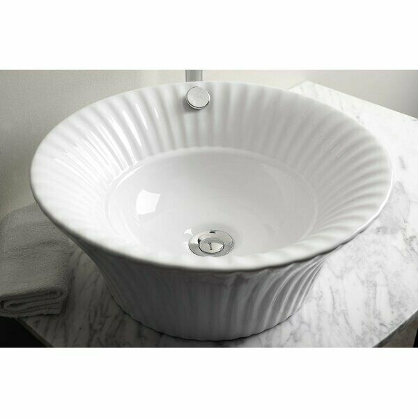 Ai 14 265 Ceramic Circular Vessel Bathroom Sink With Overflow For Sale Online