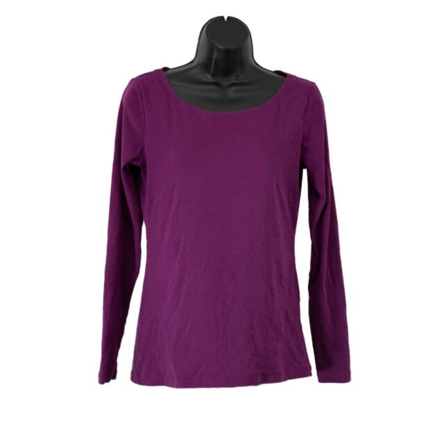 Women's Banana Republic Purple Long Sleeve Shirt Top Blouse Size M Medium