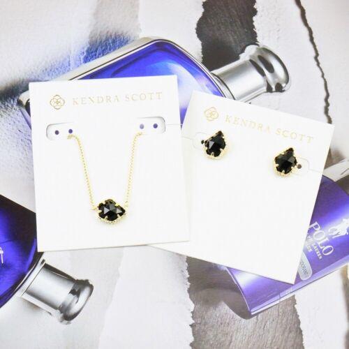 Kendra Scott Tess Tessa Black Necklace Earrings SET Gold Tone Details about  /CLEARANCE!