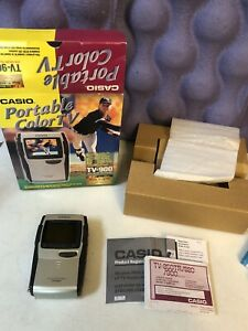 """Vintage Casio Portable LCD Color Handheld TV-900 In Box 2.3"""" Screen"""
