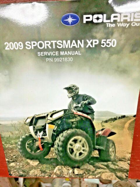 2009 Polaris Sportsman Xp 550 Repair Service Manual 9921830 For Sale Online Ebay