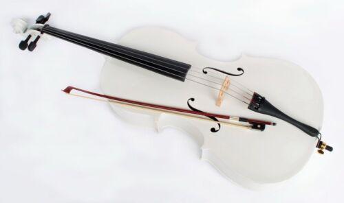 weisses 1//2 Cello inklusive Bogen und Tasche