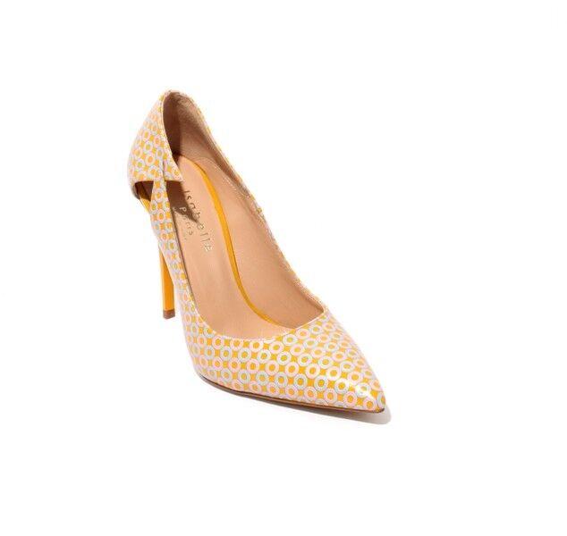 Isabelle 801 C Multi-Color Zapatos De Taco Cuero Cuero Cuero Puntera Puntiaguda bombas 36.5 US 6.5  calidad auténtica