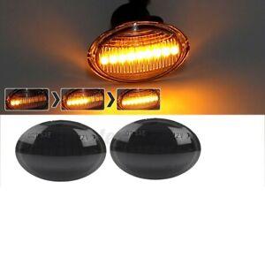 2x Dynamic LED Side Indicator Repeater Light For Fiat 500 Ford KA Maserat **