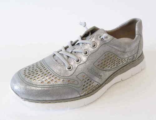Scarpa elastica Sneaker Rieker stringata grigio in argento M5228 pizzo I2YEDH9W
