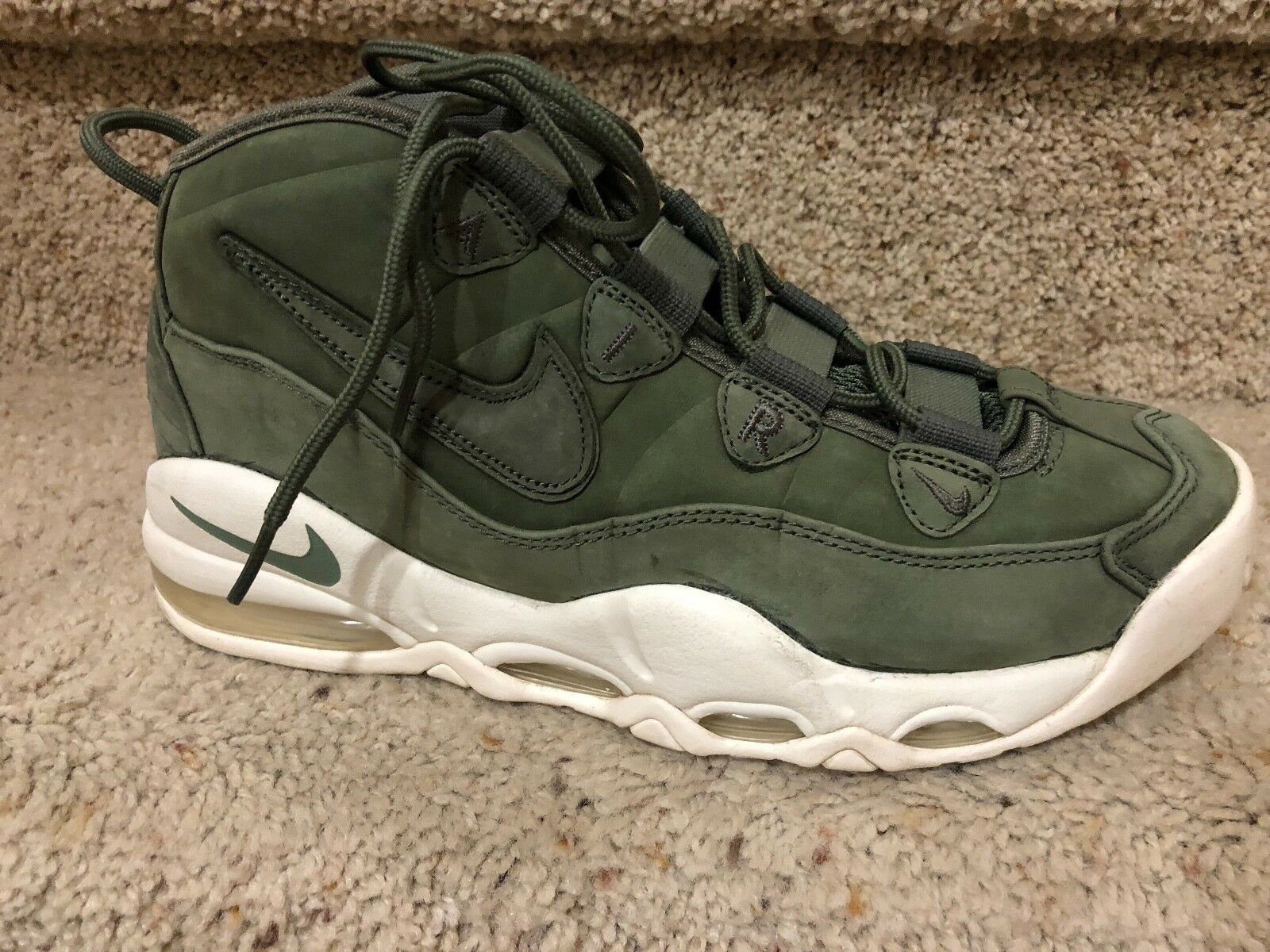 Nike Air Max Uptempo Urban Haze Olive Men's Basketball Shoes 311090-301 Size 9.5